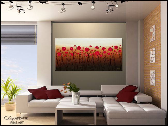 Calm Waters-Modern Contemporary Abstract Art Painting Image