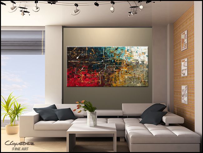 Abstract Wall Art Painting Equilibrium Ideal Art Paintings For Sale Turquoise Gray Ochre