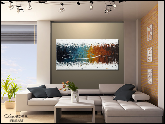 Eye of the Beholder-Modern Contemporary Abstract Art Painting Image
