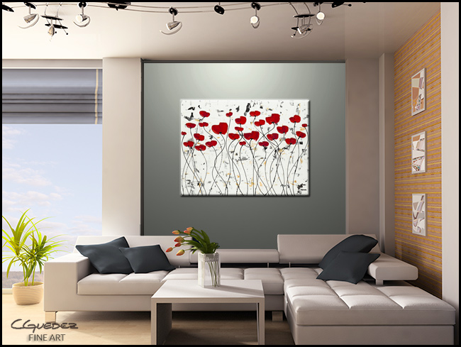 Garden of Hope-Modern Contemporary Abstract Art Painting Image
