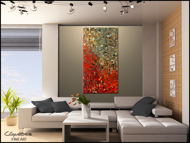La Fontaine-Modern Contemporary Abstract Art Painting Image