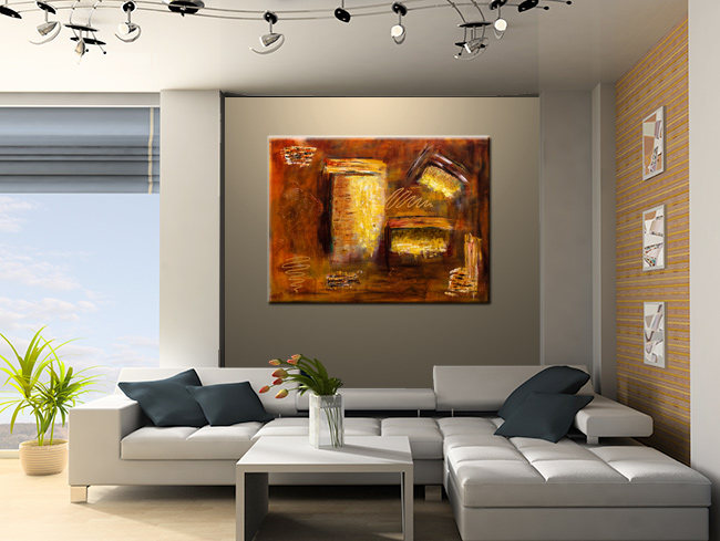 Milenio-Modern Contemporary Abstract Art Painting Image