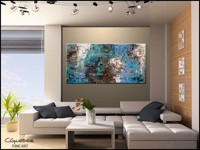 Ocean Paradise-Modern Contemporary Abstract Art Painting direct from the Artist