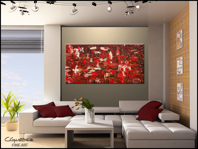 Red Matter-Modern Contemporary Abstract Art Painting Image