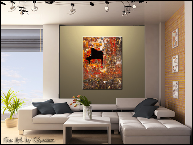 Solemnis-Modern Contemporary Abstract Art Painting Image