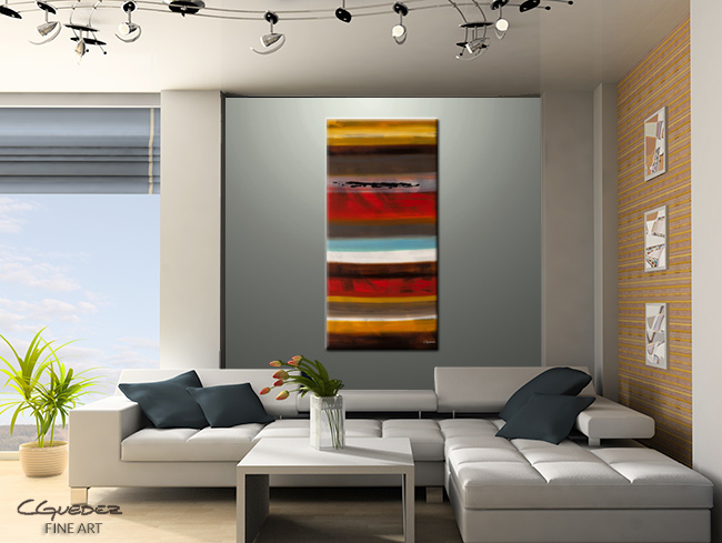 Strata-Modern Contemporary Abstract Art Painting Image