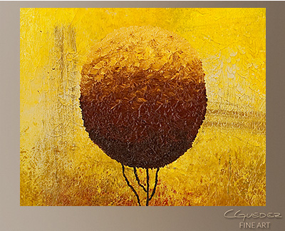 A Bright Day Modern Abstract Art Painting -Wall Art Close Up