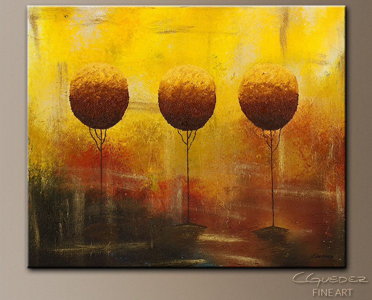A Bright Day - Abstract Art Painting Image by Carmen Guedez