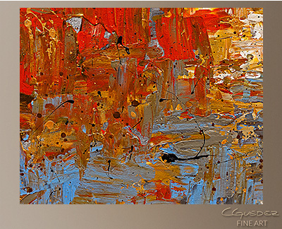 A Day to Remember Modern Abstract Art Painting -Wall Art Close Up