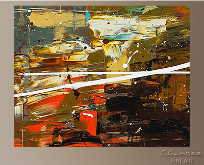 A Dream Come True Modern Abstract Art Painting -Wall Art Close Up