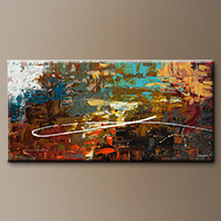 Modern Abstract Art Painting - A Dream Come True - Original Painting