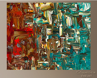 A Moment in Time Modern Abstract Art Painting -Wall Art Close Up