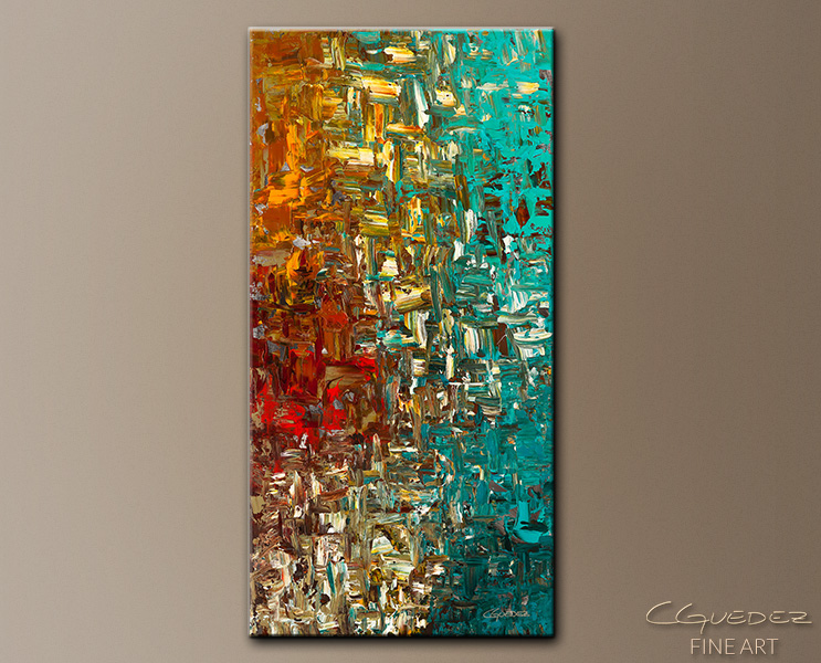 Vertical Large Abstract Art Painting for Sale - A Moment in Time