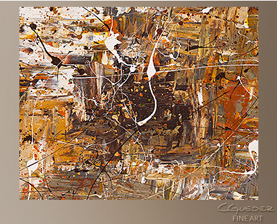 Above and Beyond Modern Abstract Art Painting -Wall Art Close Up