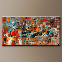 Modern Colorful Abstract Art - Abstract Celebration - Large Art
