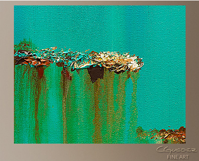 Acqua Di Mare Modern Abstract Art Painting -Wall Art Close Up