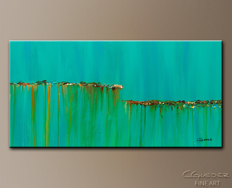Acqua Di Mare - Abstract Art Painting Image by Carmen Guedez