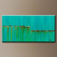 Large Abstract Painting - Acqua Di Mare - Art Gallery