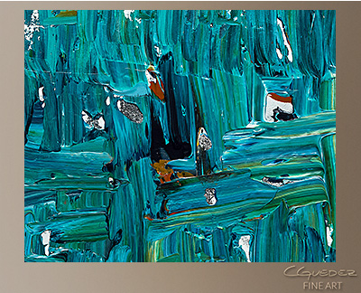 All In Modern Abstract Art Painting -Wall Art Close Up