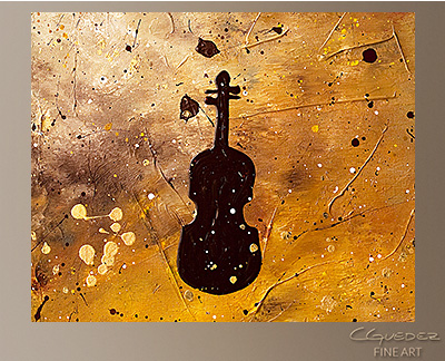 Allegro con Brio Modern Abstract Art Painting -Wall Art Close Up