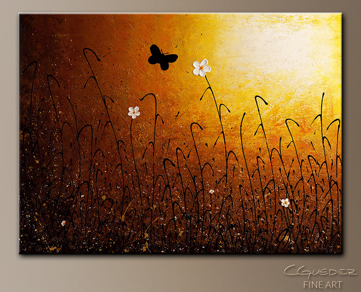 Amazing Grace Wall Art landscape abstract painting - amazing grace - butterfly and