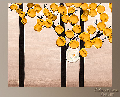Autumn Season Modern Abstract Art Painting -Wall Art Close Up