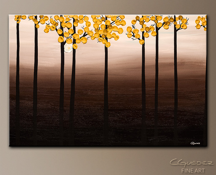 Autumn Season - Abstract Art Painting Image by Carmen Guedez