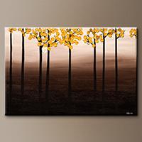Landscape Abstract Art Painting - Autumn Season - Original Art