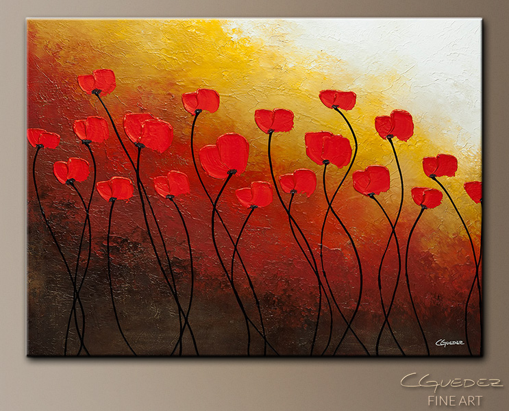 Delicieux Autumn Sunrise   Abstract Art Painting Image By Carmen Guedez