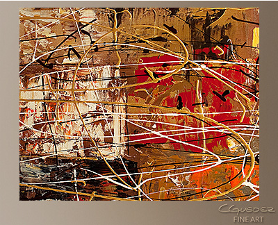 Avant Garde Modern Abstract Art Painting -Wall Art Close Up