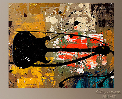 Be a Rock Star Modern Abstract Art Painting -Wall Art Close Up