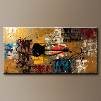 Guitar Music Abstract Art Painting - Be a Rock Star - Art Painting