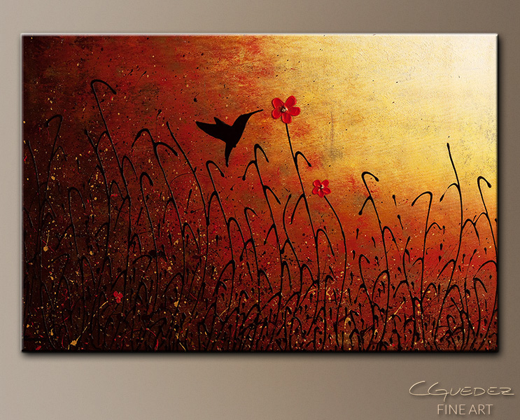 Beija Flor - Abstract Art Painting Image by Carmen Guedez