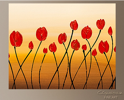 Abstract Wall Art Bella Flora - Modern Original Canvas Paintings ...