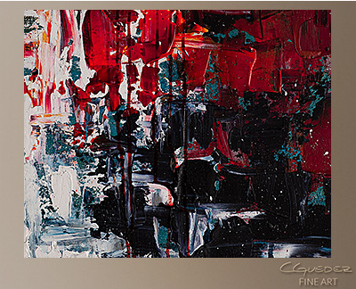 Better in Time Modern Abstract Art Painting -Wall Art Close Up