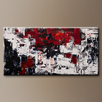 Abstract Art Canvas Painting - Beyond the Horizon - Modern Art