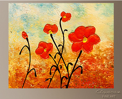 Blooming Flowers Modern Abstract Art Painting -Wall Art Close Up