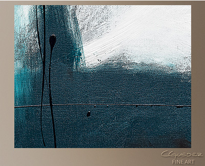 Blue Harbour Modern Abstract Art Painting  Wall Art Close Up