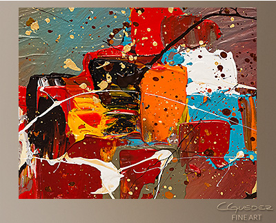 Boundaries Modern Abstract Art Painting -Wall Art Close Up
