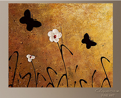 Butterflies Landscape Modern Abstract Art Painting -Wall Art Close Up
