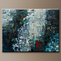 Modern Abstract Art Painting - Calming Falls - Large Art