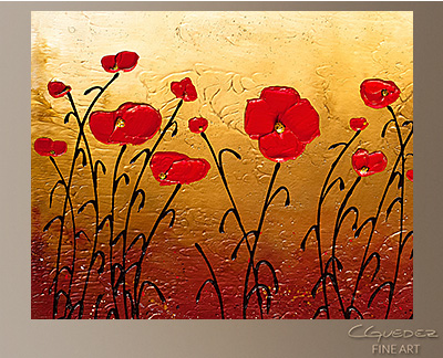 Campo Florido Modern Abstract Art Painting -Wall Art Close Up