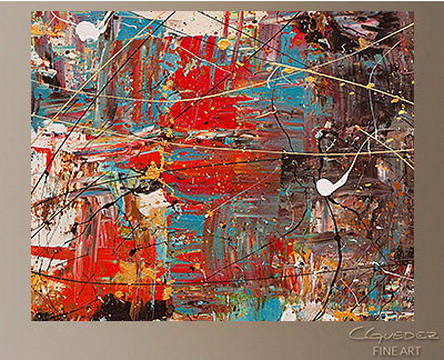 Can't Stop Modern Abstract Art Painting -Wall Art Close Up