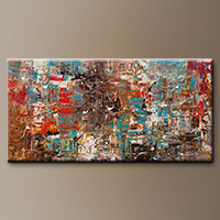 Large Abstract Art - Can't Stop - Original Painting
