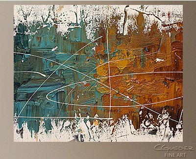 Catch Me If You Can Modern Abstract Art Painting -Wall Art Close Up