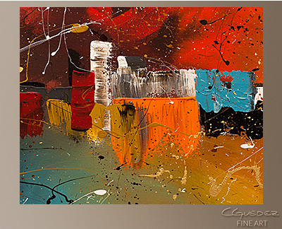 Celebration Modern Abstract Art Painting -Wall Art Close Up