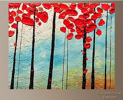 Change of Seasons Modern Abstract Art Painting -Wall Art Close Up