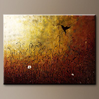 Abstract Art - Chasing the Light - Original Painting