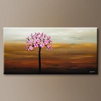 Poppy Flower Painting - Cherry Blossom - Wall Art