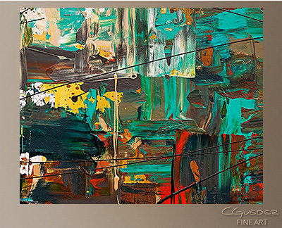 City Life Modern Abstract Art Painting -Wall Art Close Up